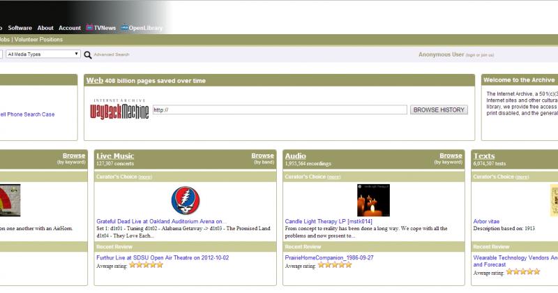 Consulta la historia de tu web en archive.org
